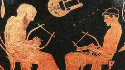 Застольная песня на античной пирушке