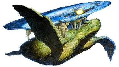Один из слонов для поддержания диска Плоского мира