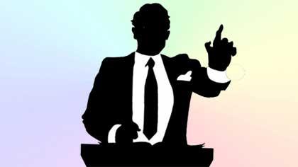 Оратор на съезде (9 букв)